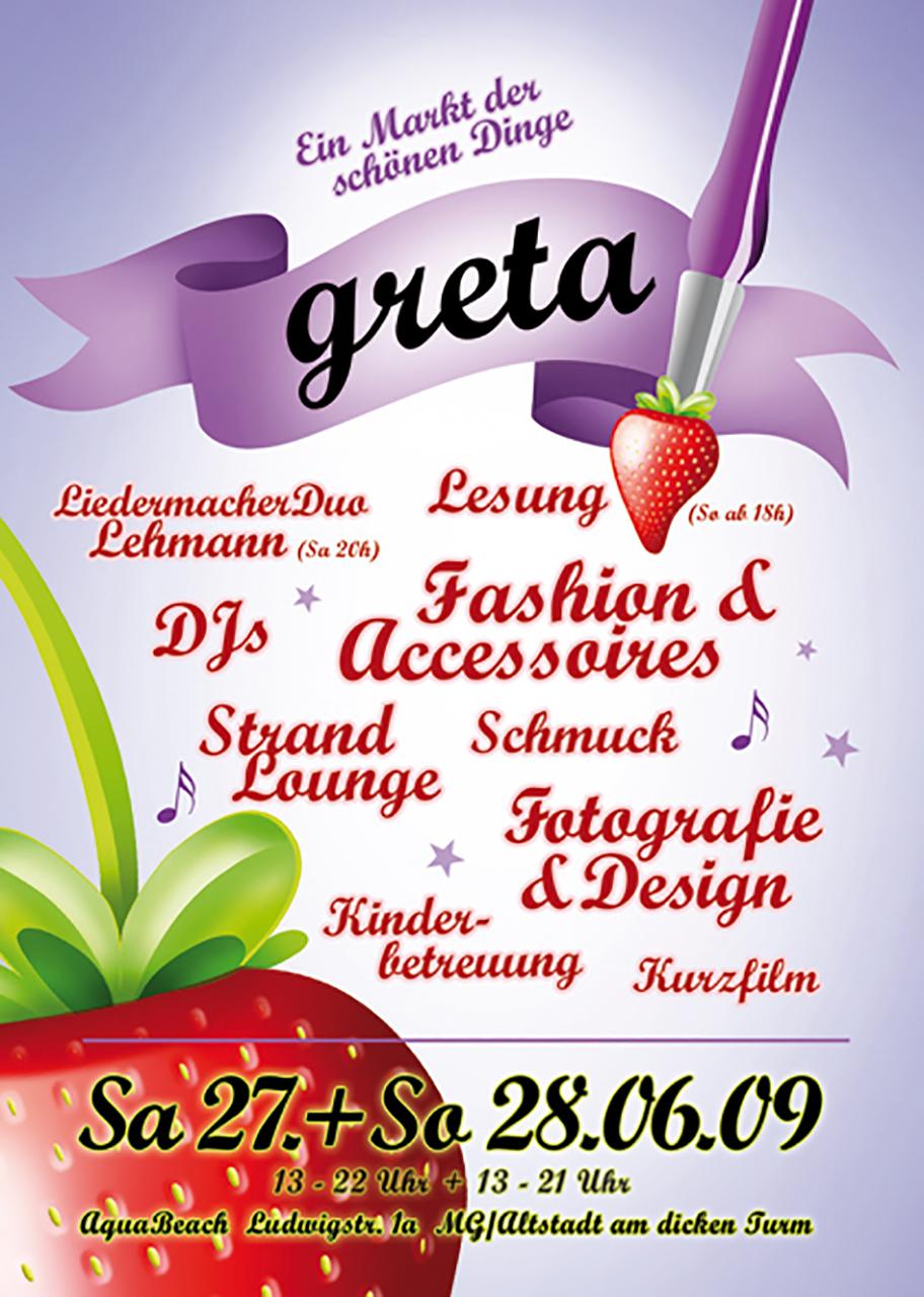 Grafik Greta 2009 Plakat
