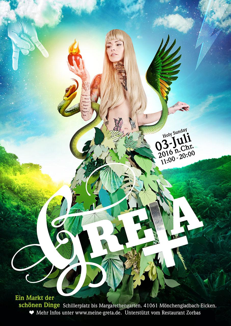 Grafik Greta 2016 Plakat