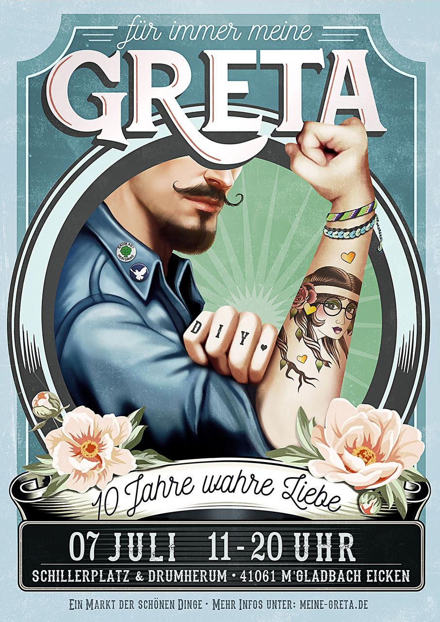 Grafik Greta 2019 Plakat